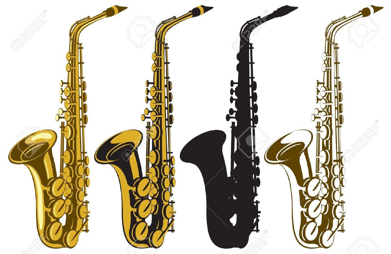 set of four saxophones Stock Vector - 16831587
