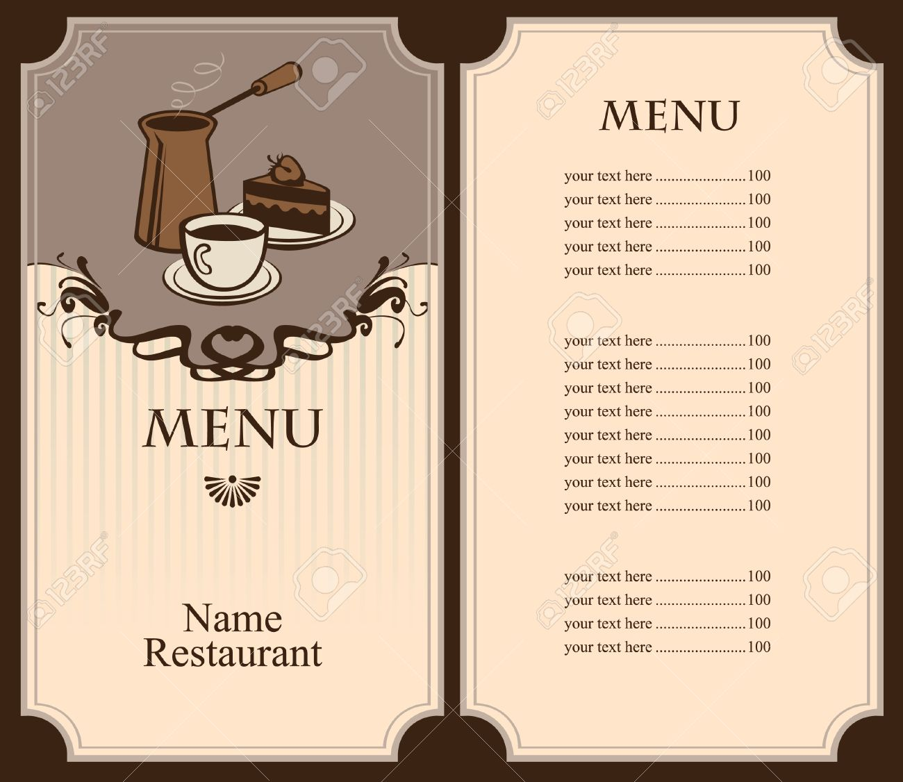 menu for coffee and dessert royalty free cliparts, vectors, and