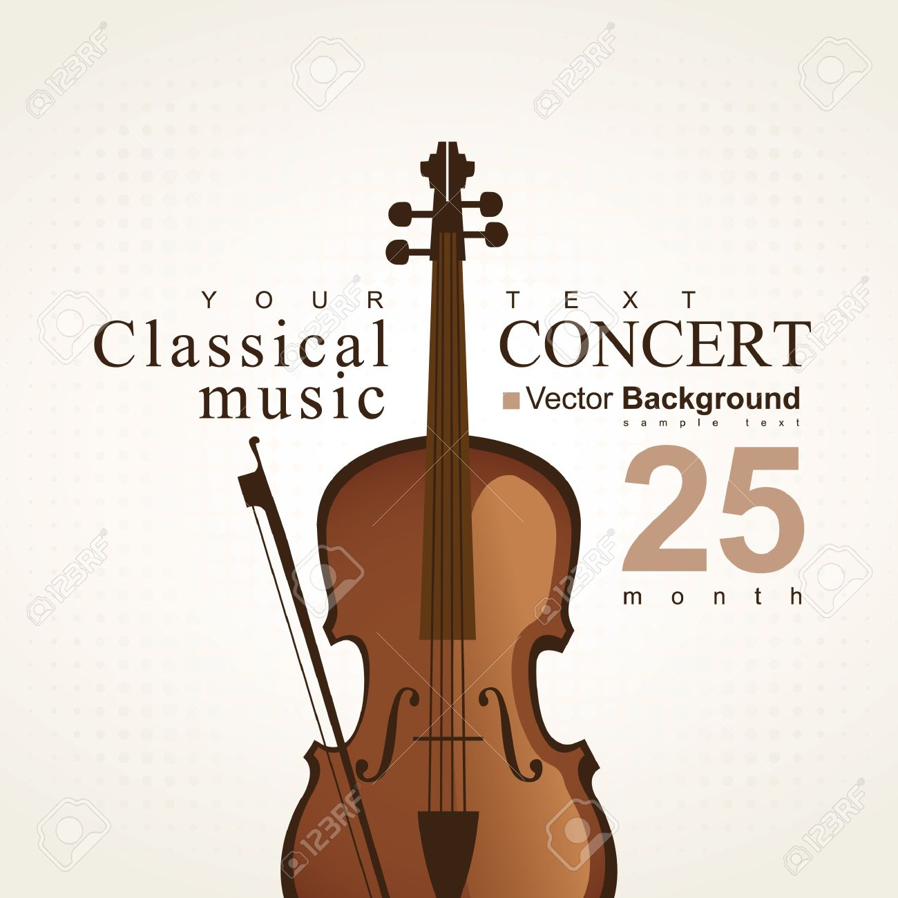 Poster For A Concert Of Classical Music With Violin Stock Vector