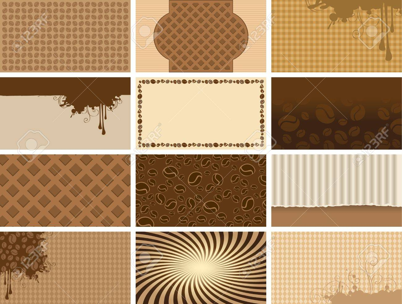 Coffee Set Backgrounds For Business Cards Royalty Free Cliparts ...