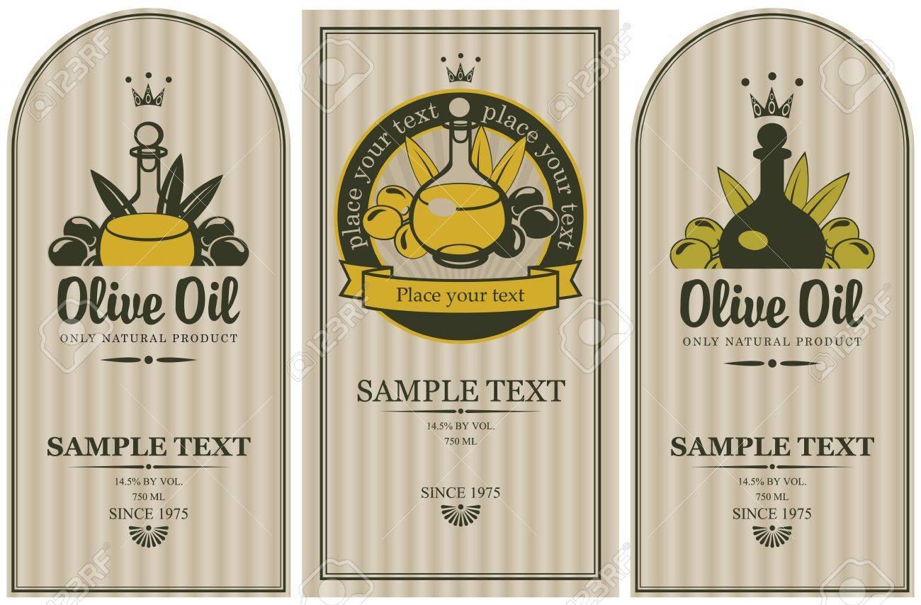set of labels for olive oils - 20659864