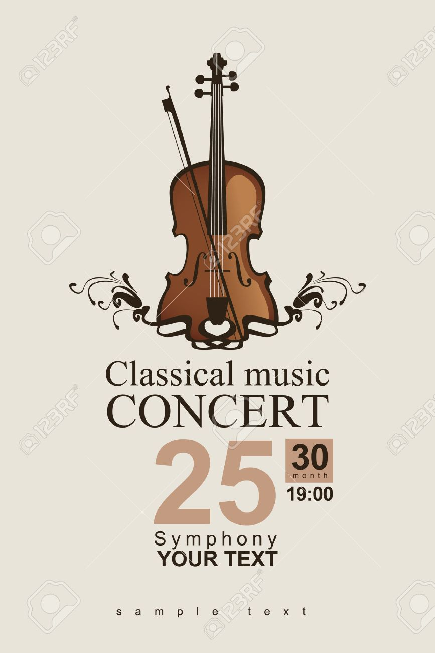 poster for a concert of classical music with violin - 24550807