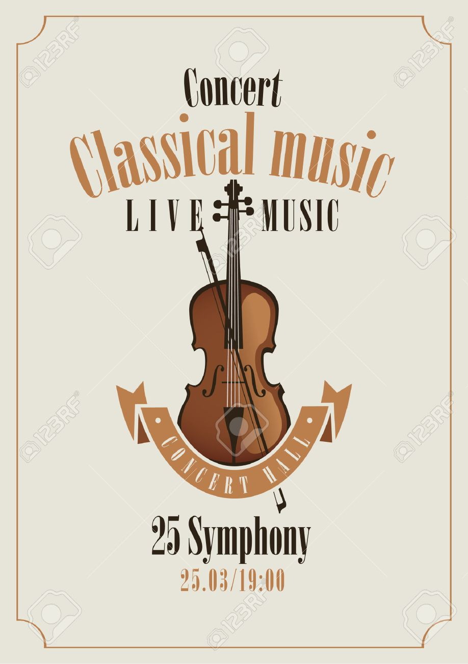 poster for a concert of classical music with violin - 28457139