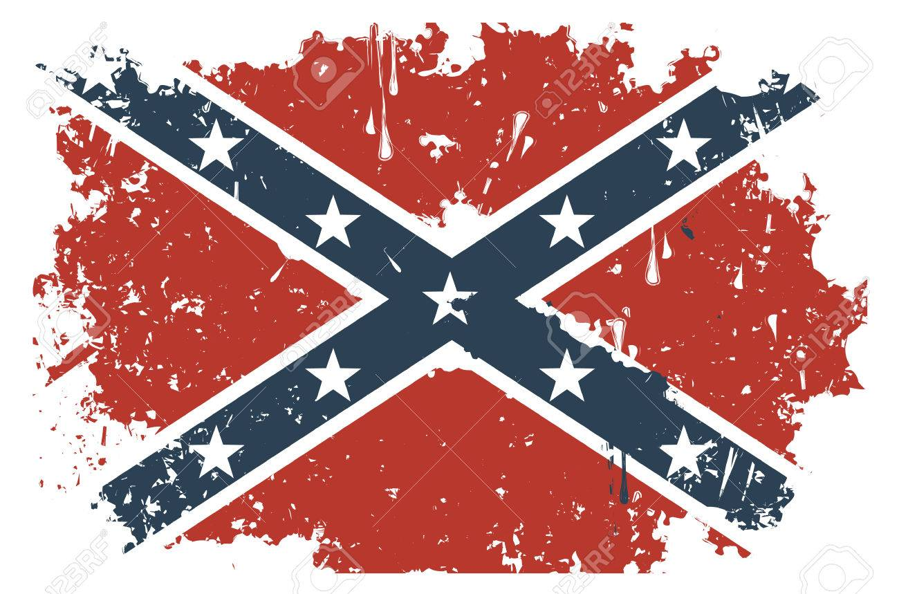 confederate rebel flag grunge royalty free cliparts vectors and
