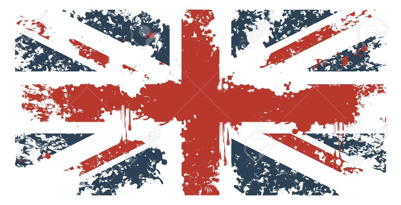 Britain flag with grunge texture - 28457167