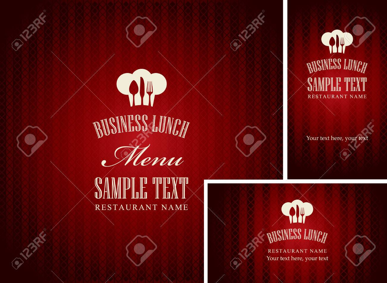 Menus De Djeuner Daffaires Et Cartes Visite Pour Restaurant