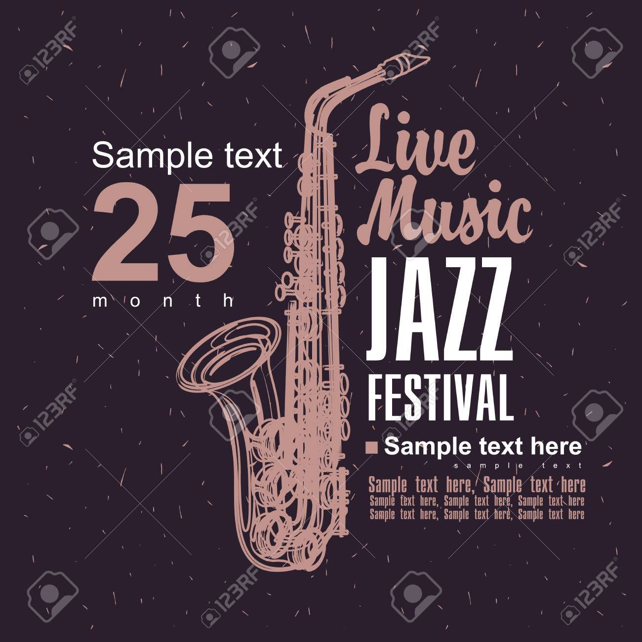 Music poster with a picture of a saxophone jazz festival - 40624234