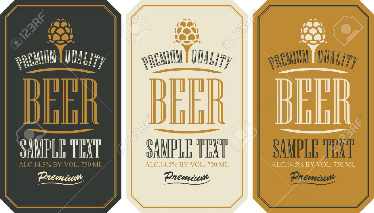 Estremamente Impostare Le Etichette Per La Birra In Stile Retrò Con Malto  QA65