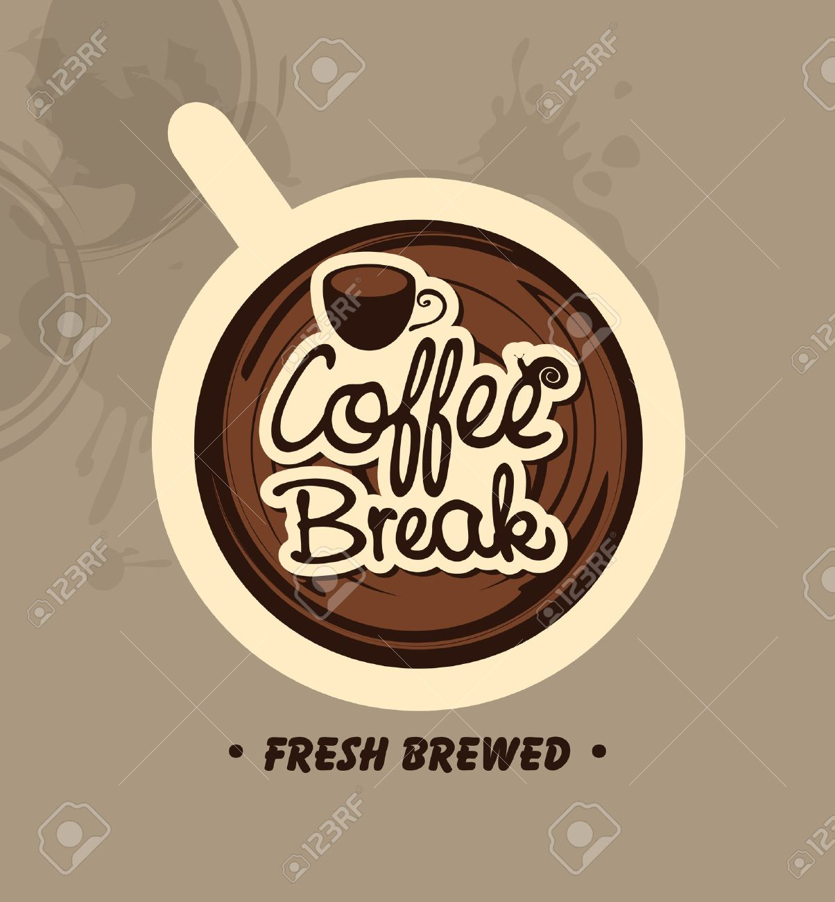 top view of a cup of coffee with the words Coffee Break - 41017641