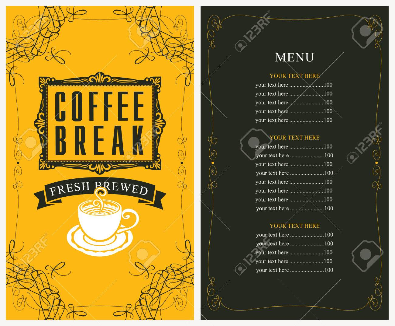 coffee price list template.html