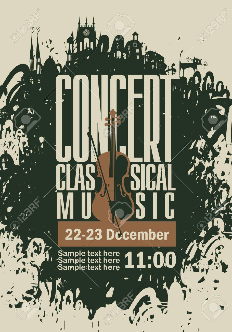 Music Poster For A Concert Of Classical Music With The Image