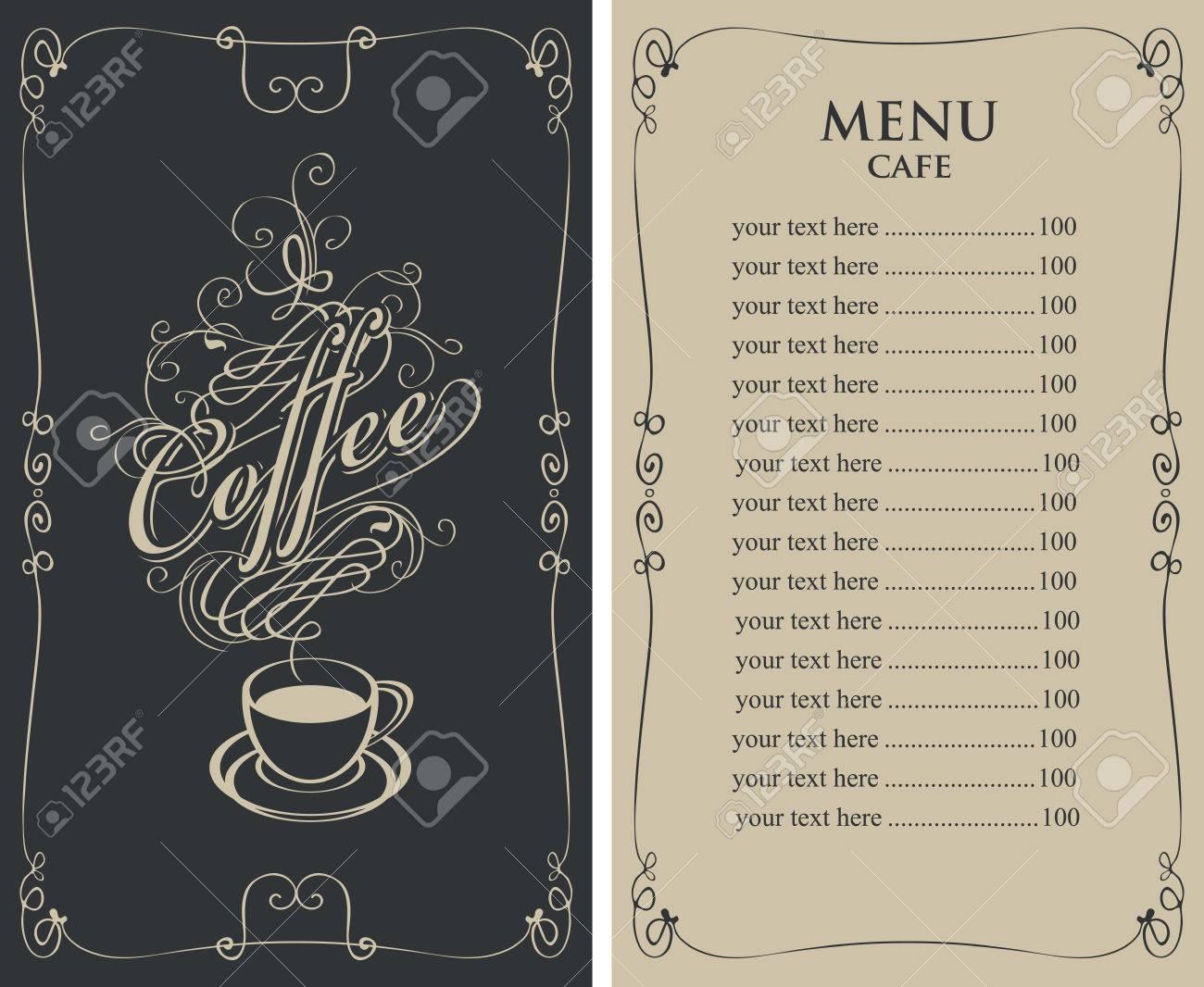 Charmant Cafe Menü Vorlagen Frei Bilder - Entry Level Resume ...