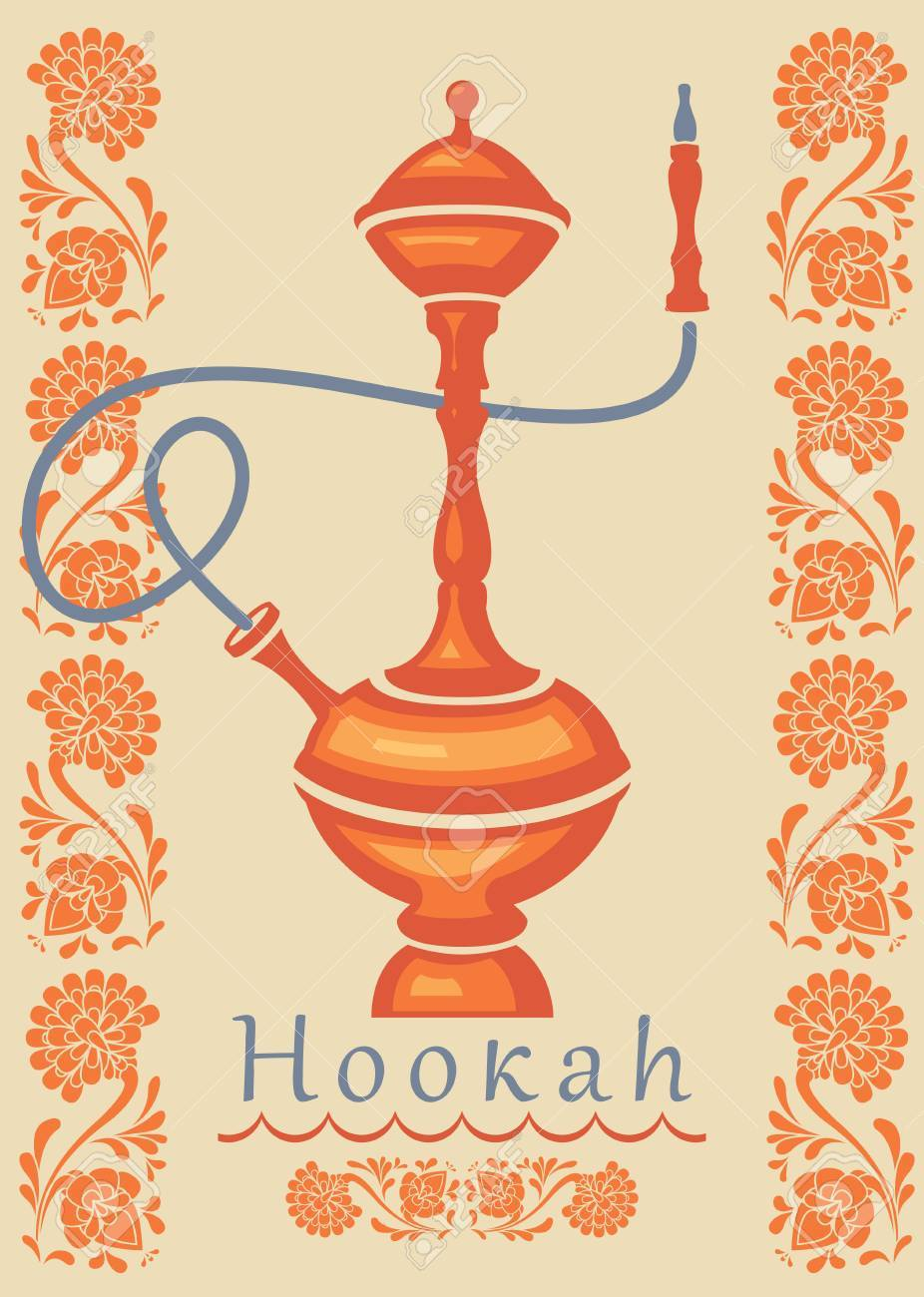 Hookah Logo Vector Illustration Hand Drawn Flower Arabic Islamic Royalty Free Cliparts Vectors And Stock Illustration Image 82008343