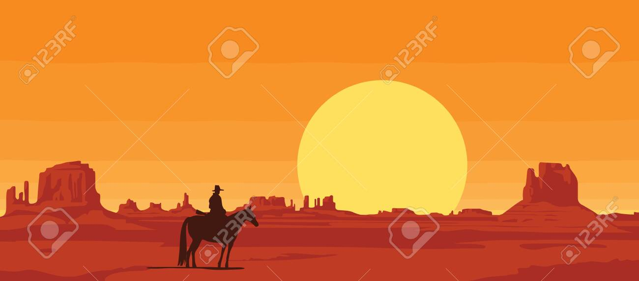 vector landscape with wild american prairies and silhouette of.. royalty  free cliparts, vectors, and stock illustration. image 141517216.  123rf