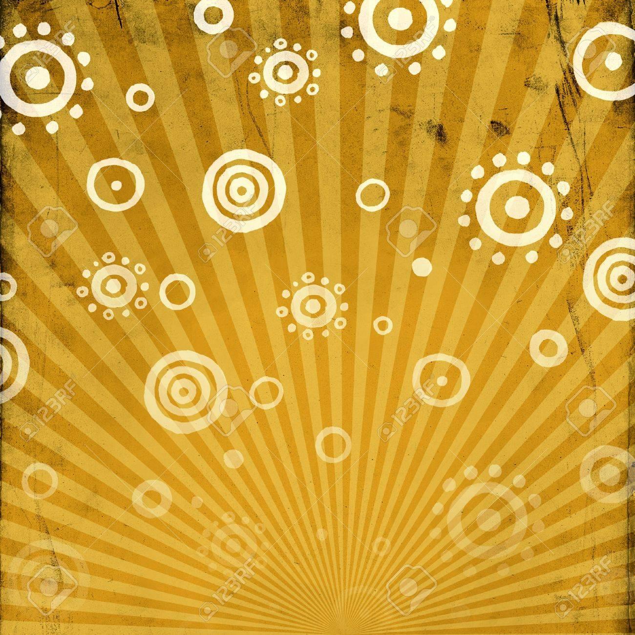 Rolled sun pattern on sunburst background Stock Photo - 6130874