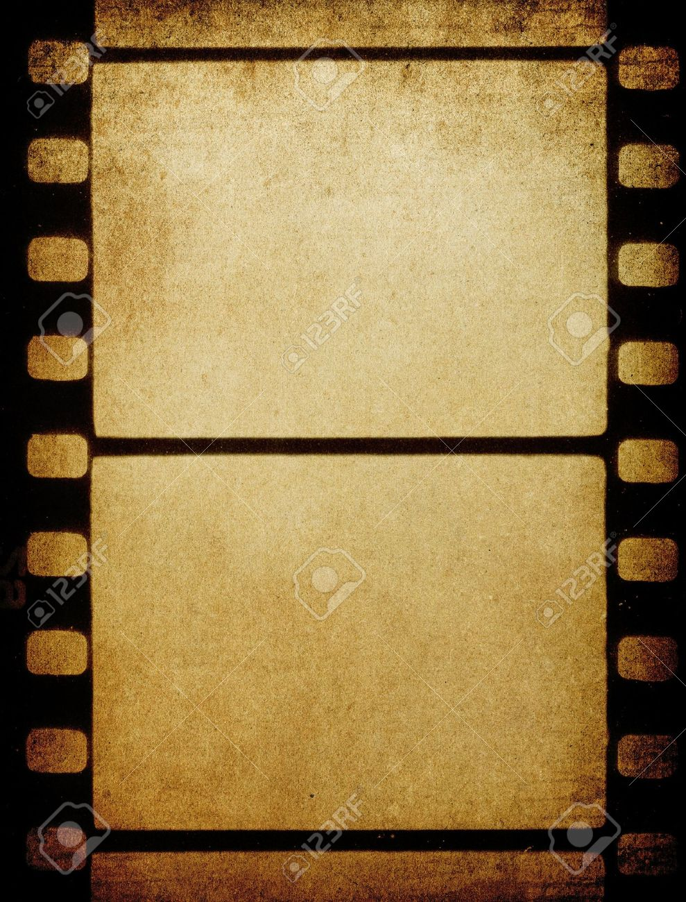Grunge Vintage 35 Mm Film Background With Space For Text. Stock ...