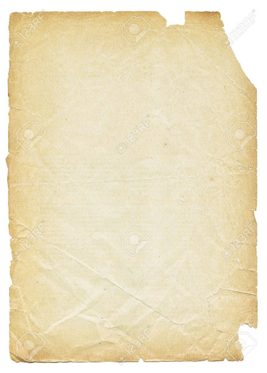 Old torn paper isolated on white background. Stock Photo - 7283187