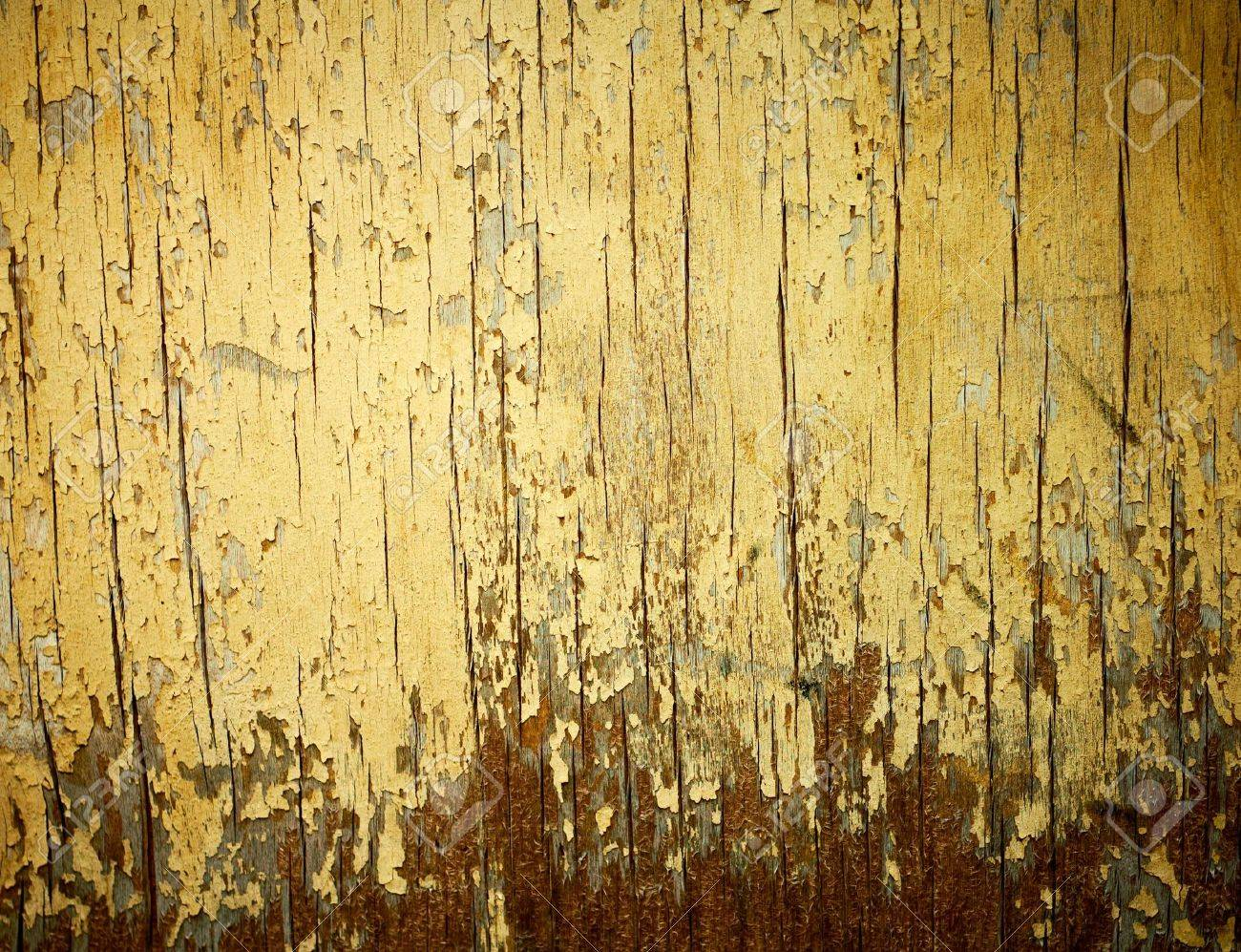 Yellow painted weathered wood texture. Stock Photo - 7543941