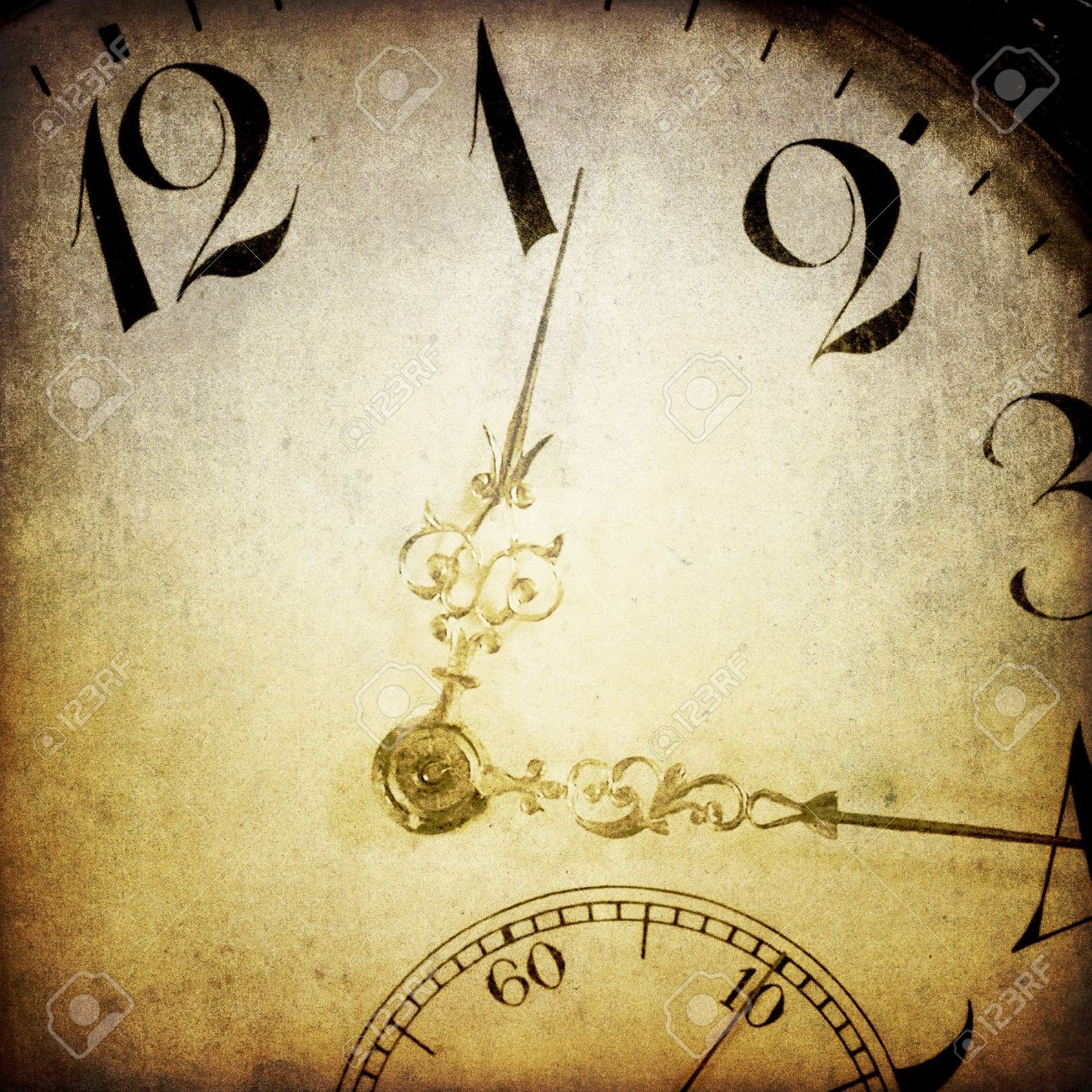 Vintage clock face. Abstract time theme background. Stock Photo - 7782517