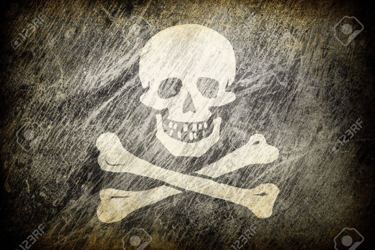 Grunge rubbed flag of Jolly Roger. Stock Photo - 7830330