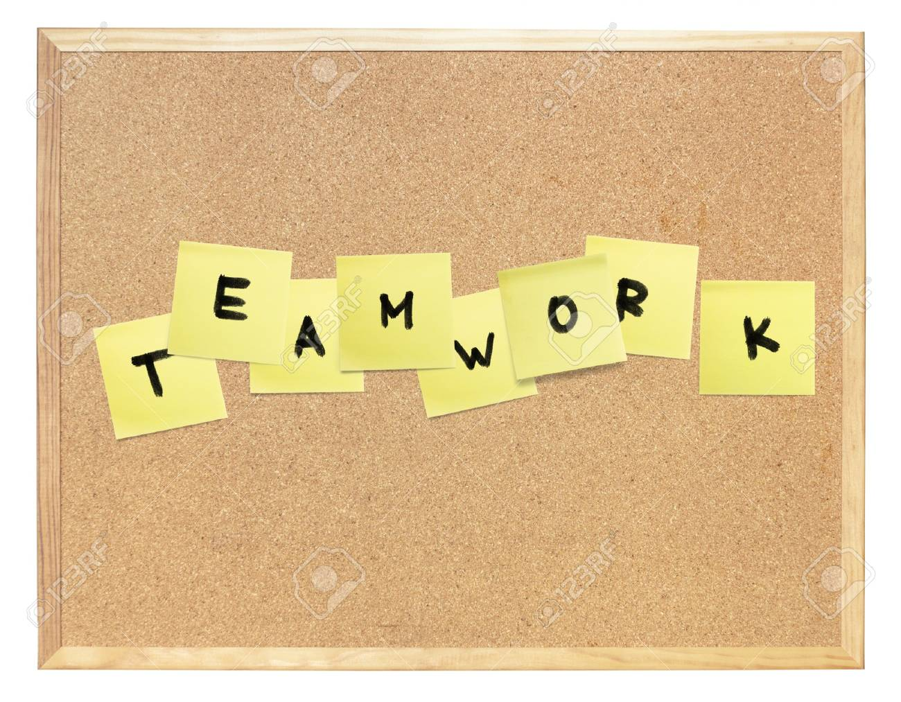Word of Teamwork, composed on cork board. Stock Photo - 7830325