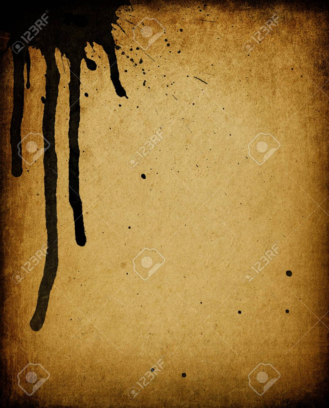Vintage stained paper, useful as background element in designworks. Stock Photo - 7853279
