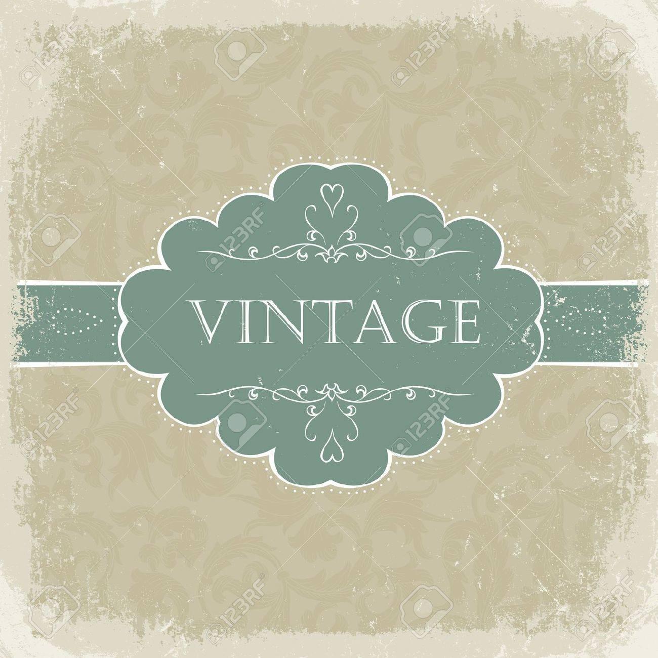 Beige vintage greetings. Stock Photo - 7985126