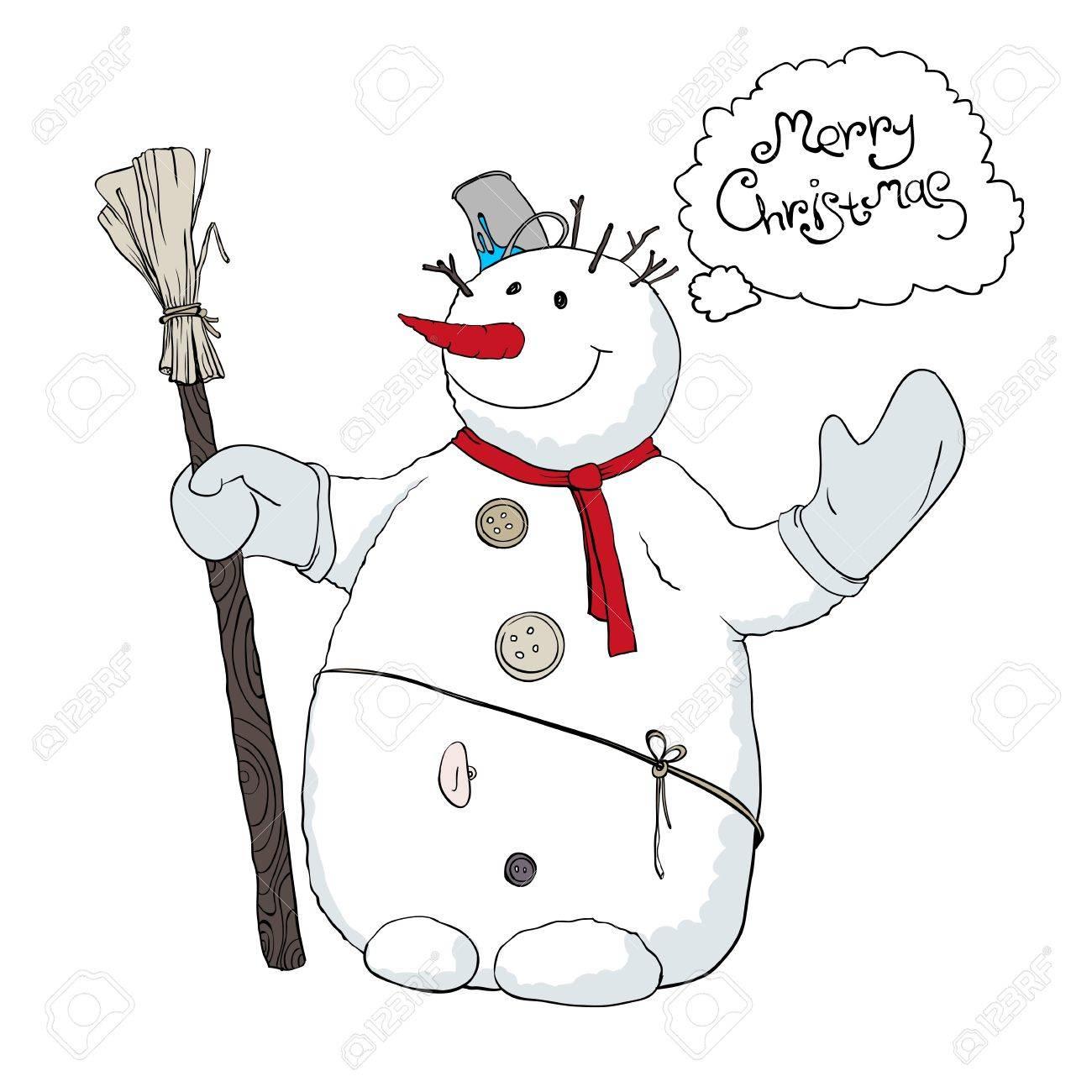Cute snowman illustration. Stock Vector - 11547760