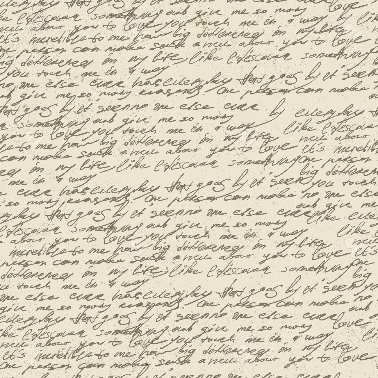 Resumen De Escritura En El Papel De época Antigua. Patrón Sin ...
