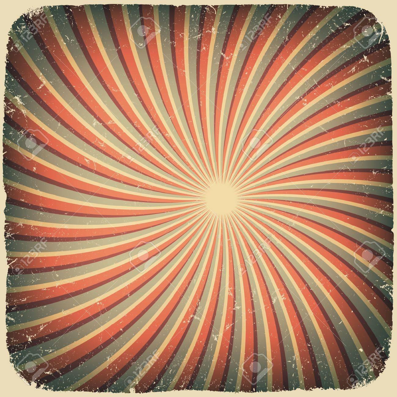 グランジの渦巻線レトロな背景。のイラスト素材・ベクタ - Image 12286079.