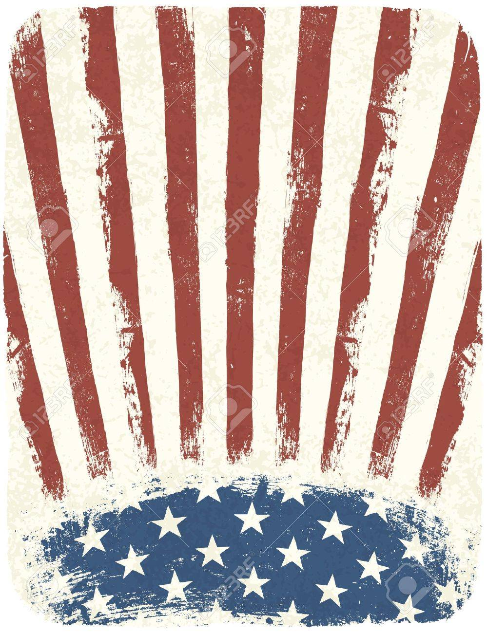 American patriotic poster background. Vintage style poster template, Vector, EPS10 Stock Vector - 14155337