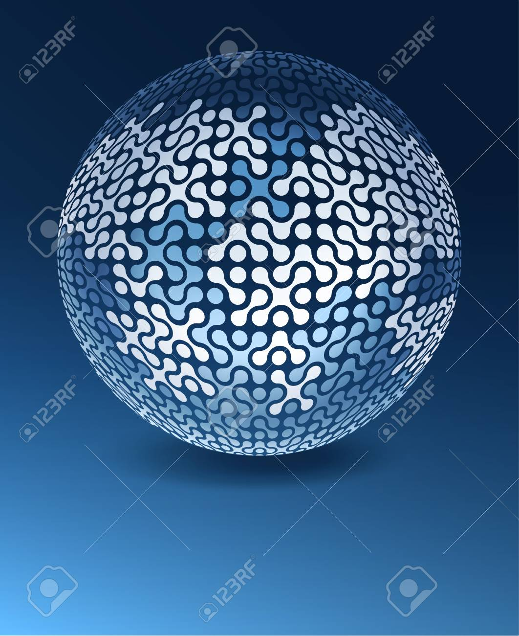 Globe network concept with copy space. Stock Photo - 14709054