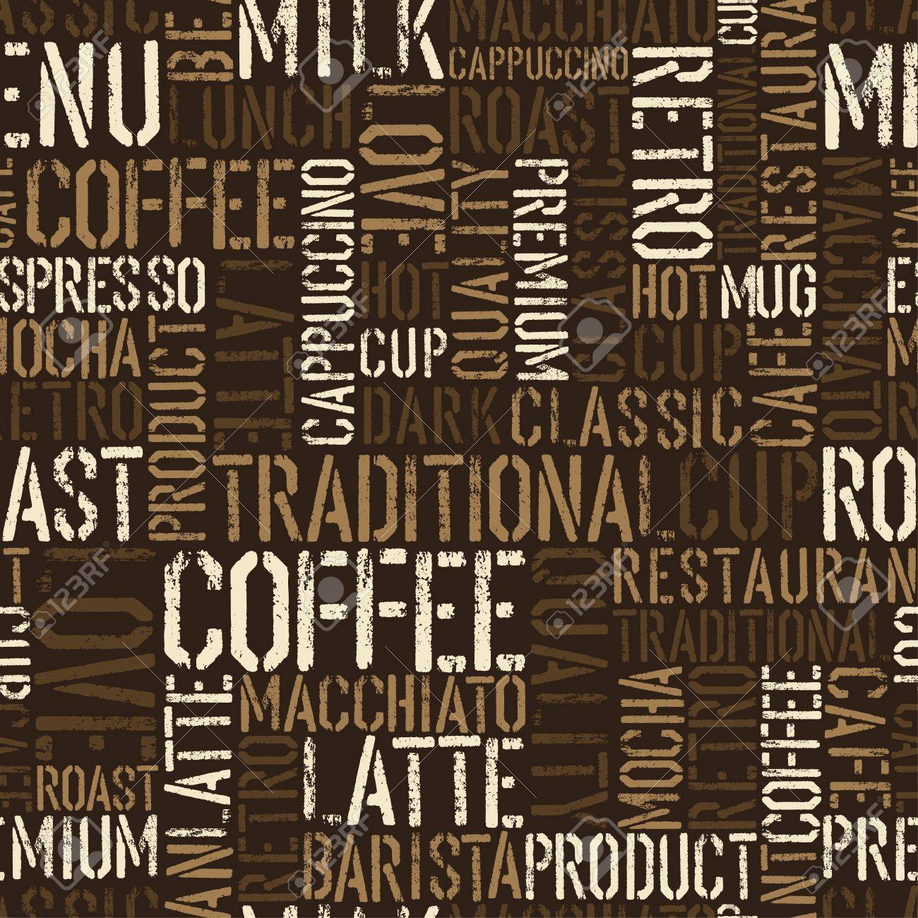 Seamless coffee experience pattern. Stock Photo - 14709561