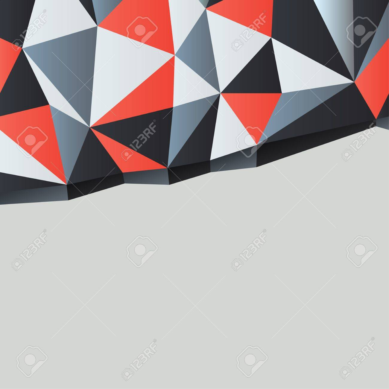 Triangles background with copyspace Stock Photo - 14707148
