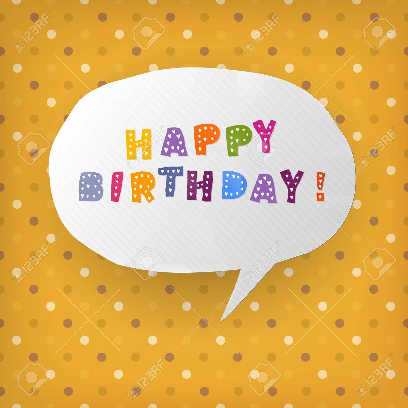 Happy birthday gift card template    illustration Stock Vector - 14894791