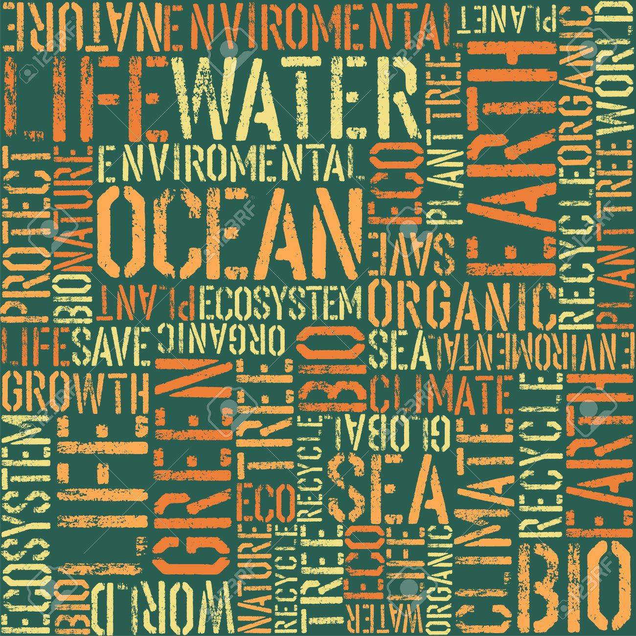 Nature words seamless pattern Stock Vector - 14895277