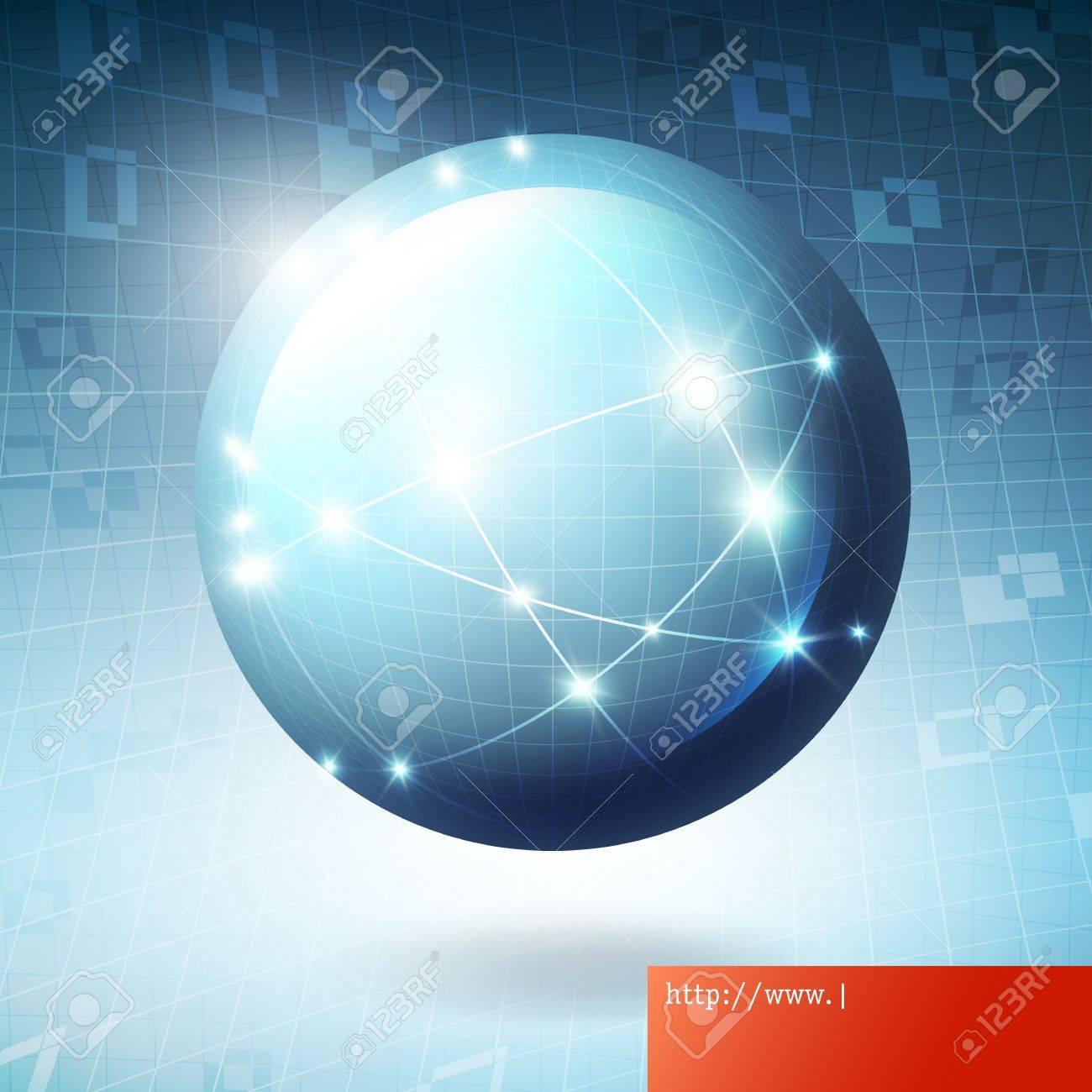 Globe information network concept illustration Stock Vector - 15157469