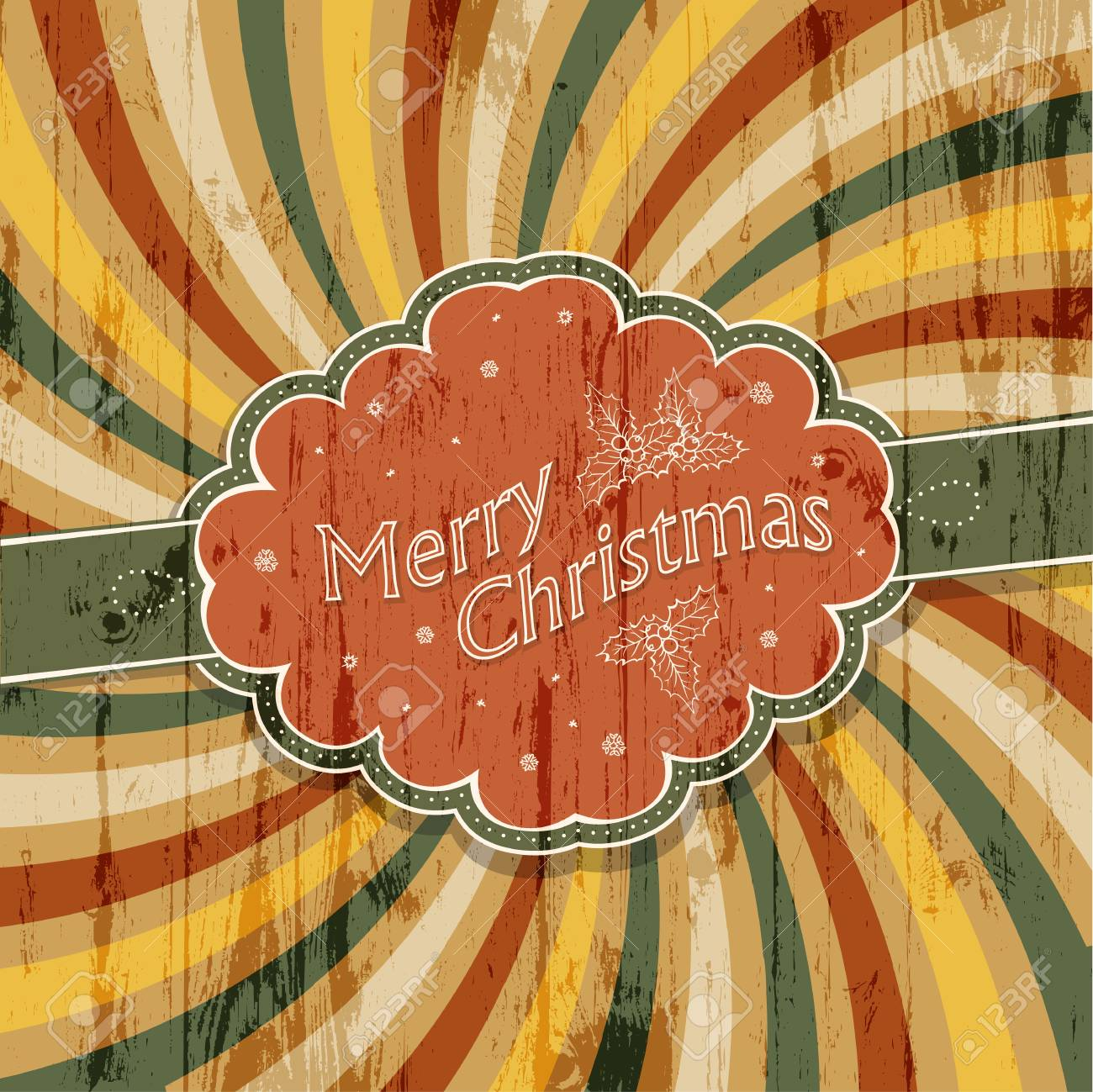 Merry Christmas background with colorful rays background Stock Photo - 16610367