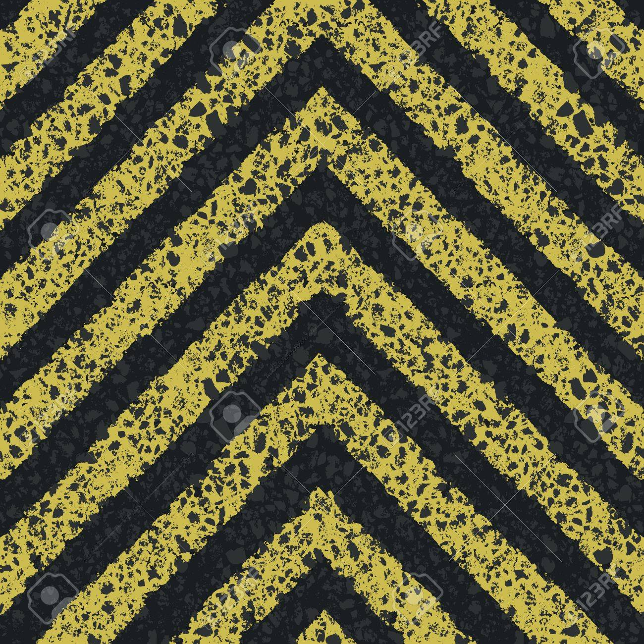 Danger arrows on asphalt texture. Stock Vector - 18216113