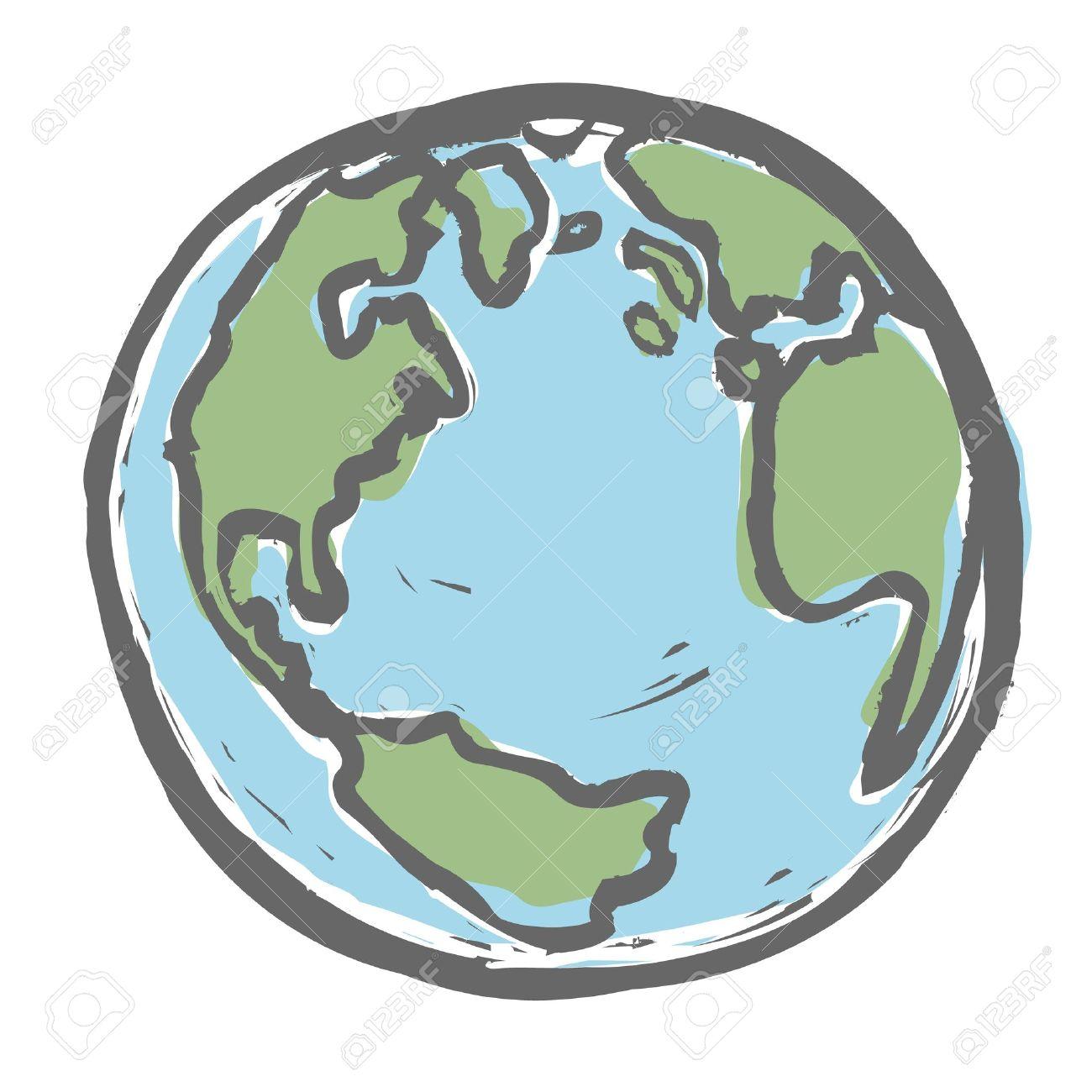 Hand drawn earth. - 18216071