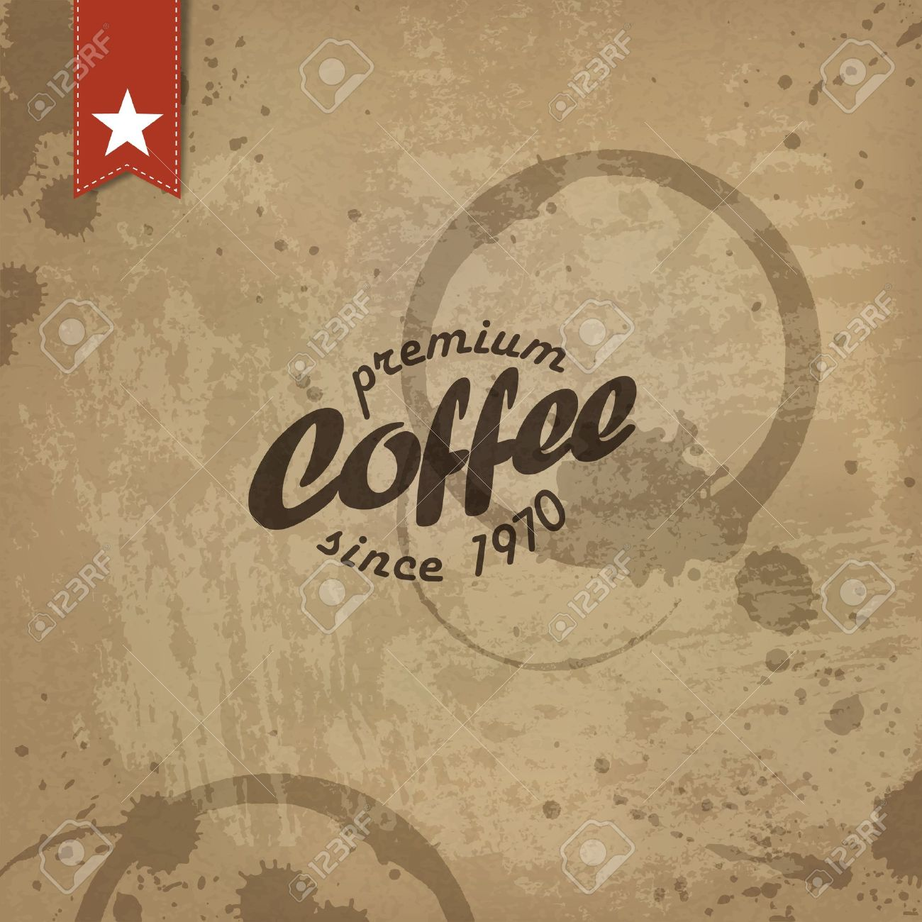 Coffee grunge retro background. - 19187491