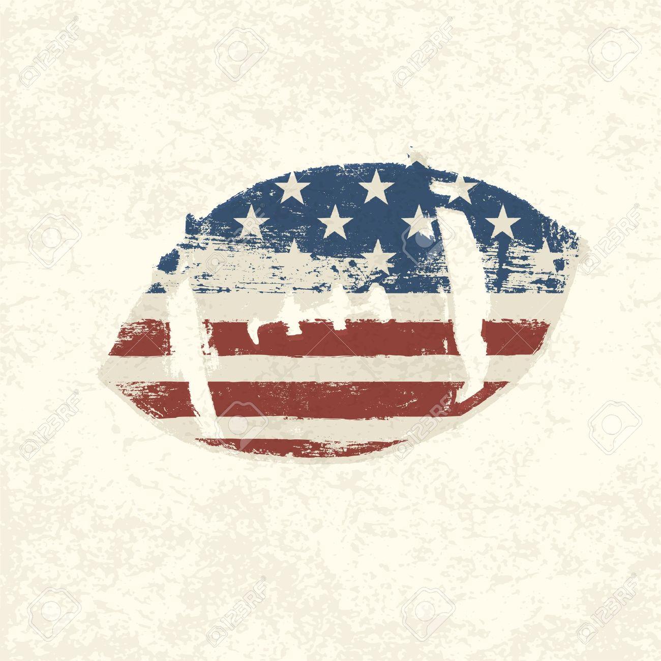 Grunge american flag themed ball symbol. - 19186742