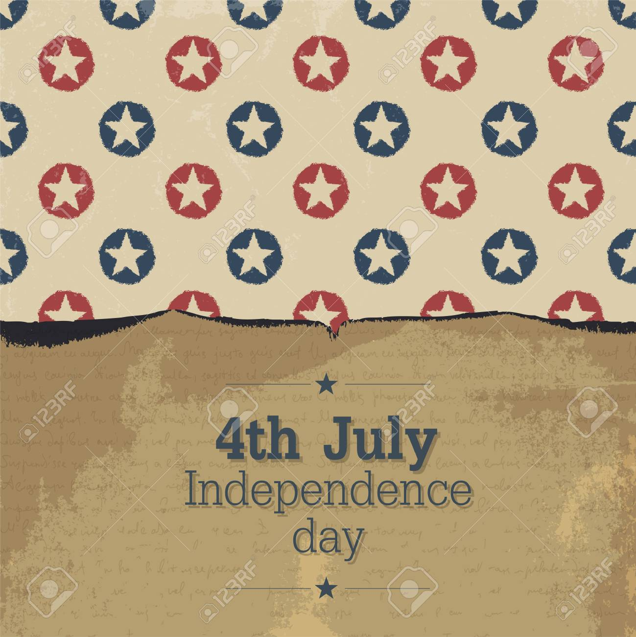 Independence day vintage poster. Stock Vector - 19187480