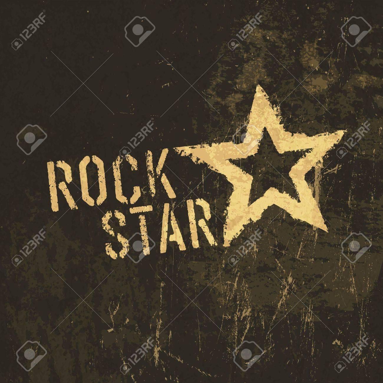 Rock star grunge icon. - 19187486