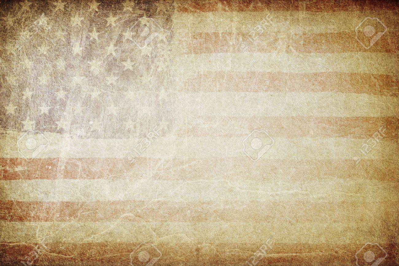 Grunge american flag background. Perfect for text placing. - 19185975