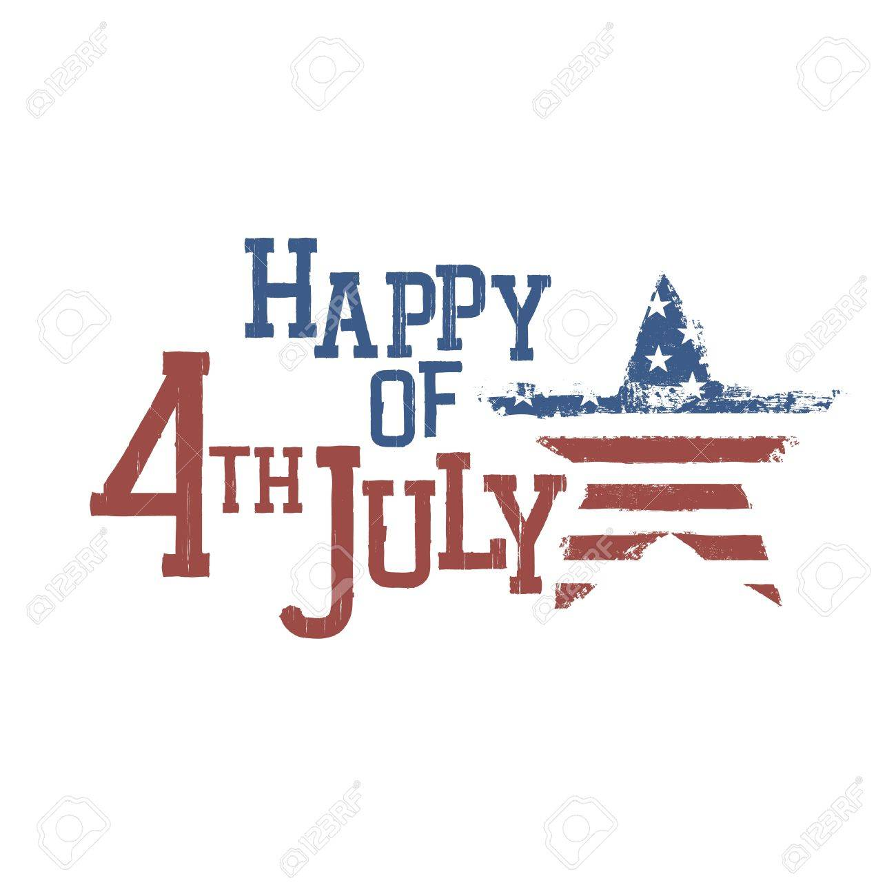 Typography for Fourth July Celebration. Vector, EPS10 - 19919589