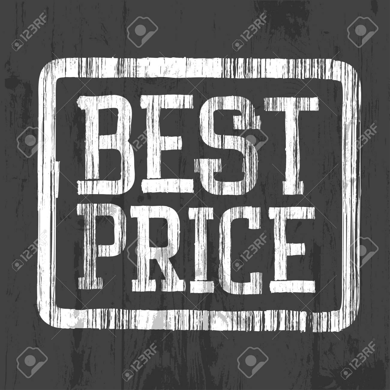 Best price stamp. Stock Vector - 20145960