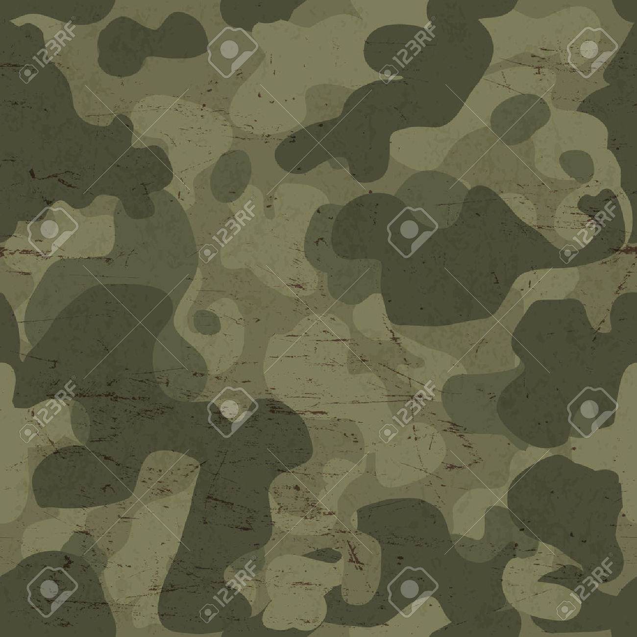 Military camouflage seamless pattern. Vector - 33733998