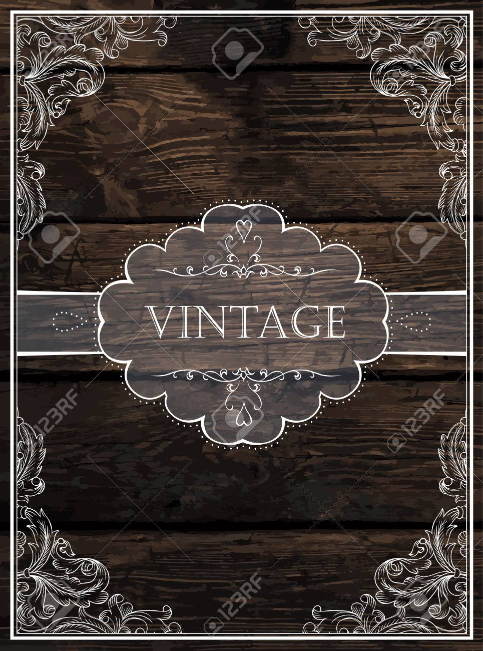Vintage Card Design. Vector - 33734225