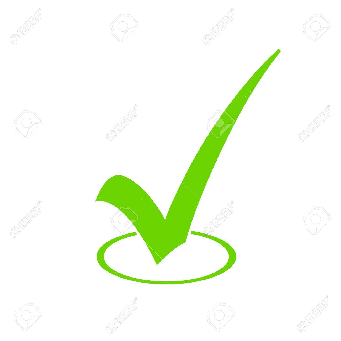 Green Check Mark Icon - 34371525